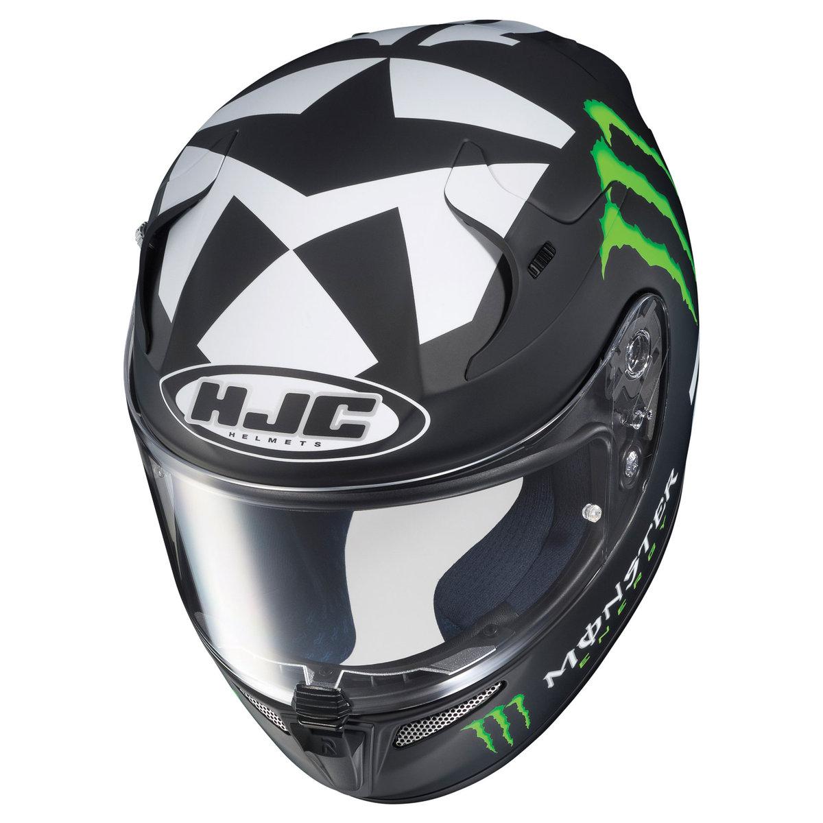 hjc rpha 10 ben spies ii 2 monster energy replica helmet full face matte black ebay. Black Bedroom Furniture Sets. Home Design Ideas