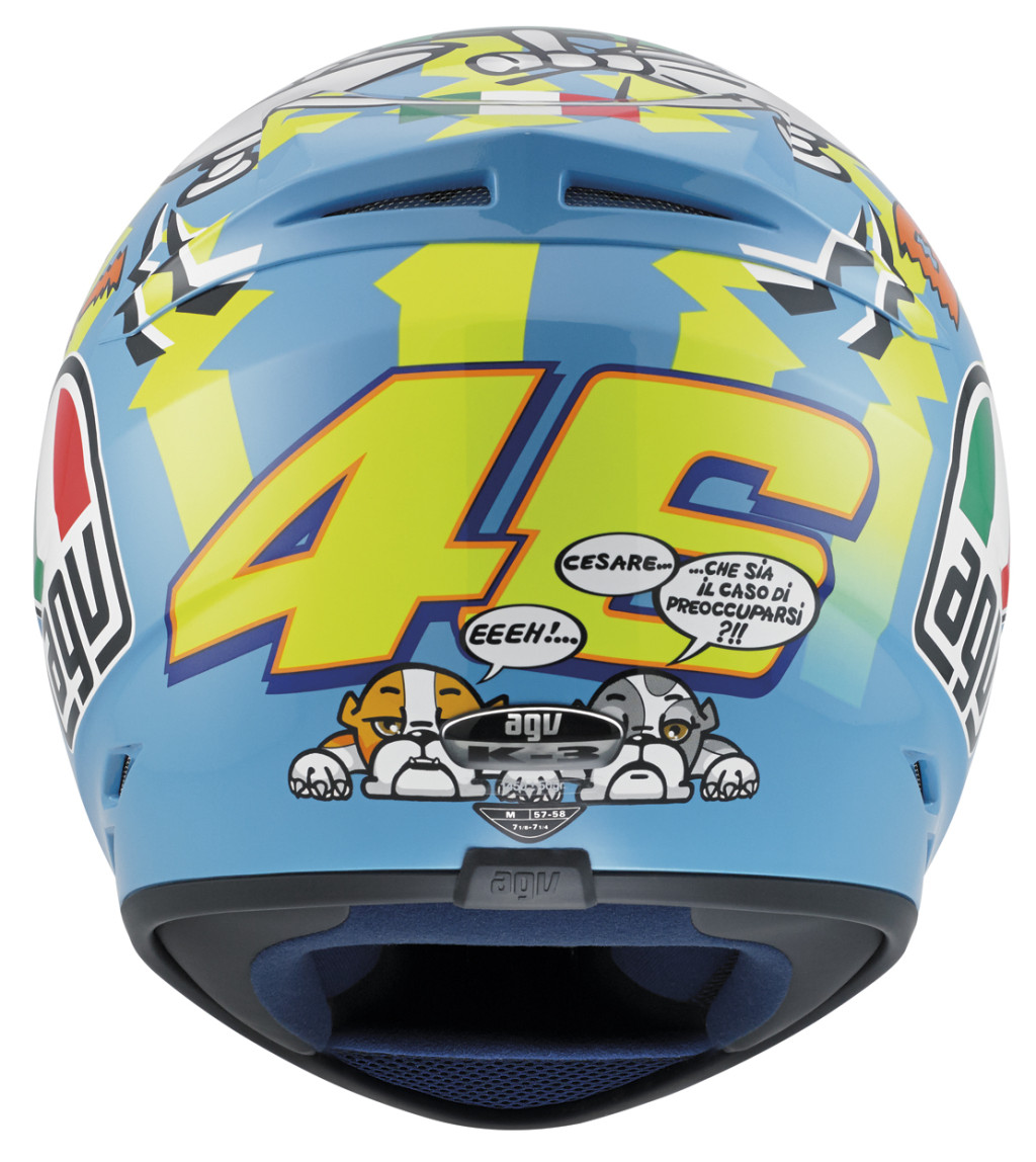 agv k3 valentino rossi wake up helmet full face street. Black Bedroom Furniture Sets. Home Design Ideas