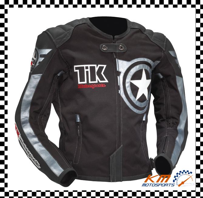 Teknic 2012 Rage Leather Textile Jacket Black Perforated