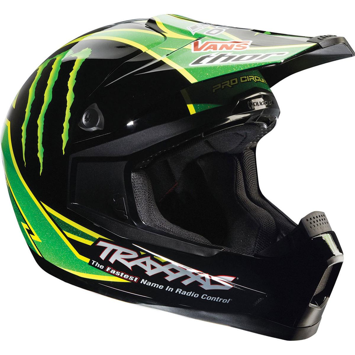 ... CIRCUIT MONSTER ENERGY HELMET MX MOTOCROSS OFFROAD GREEN BLACK | eBay