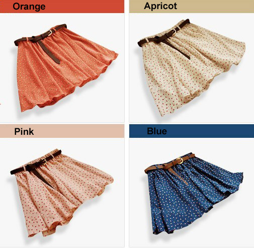 4-Colors-Fashion-Pleated-Floral-Chiffon-Women-Ladies-Cute-Mini-Skirt-with-Belt