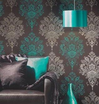 Very-Funky-Large-Scale-Damask-Modern-Edgy-Choc-Teal