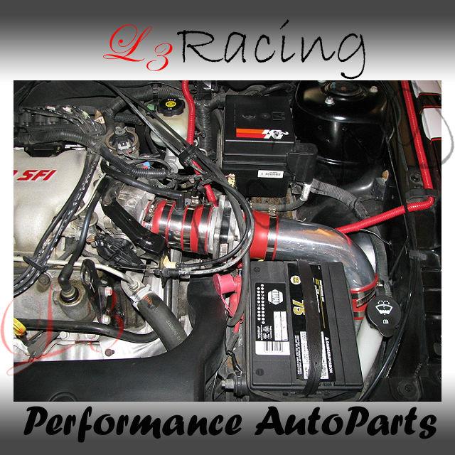 1999 Pontiac Grand Am Transmission: 99 05 Grand Am 3 4 V6 Cold Air Intake Kit Red Filter