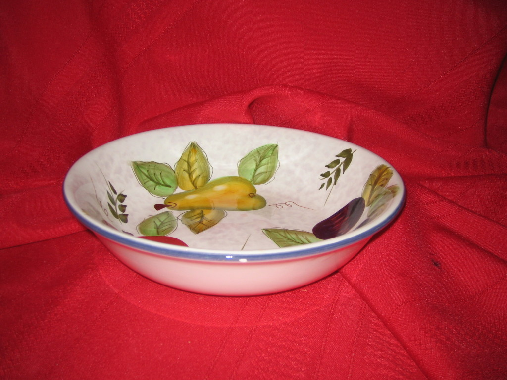 Oneida Vintage Fruit hand painted bowl discontinued '02   eBay