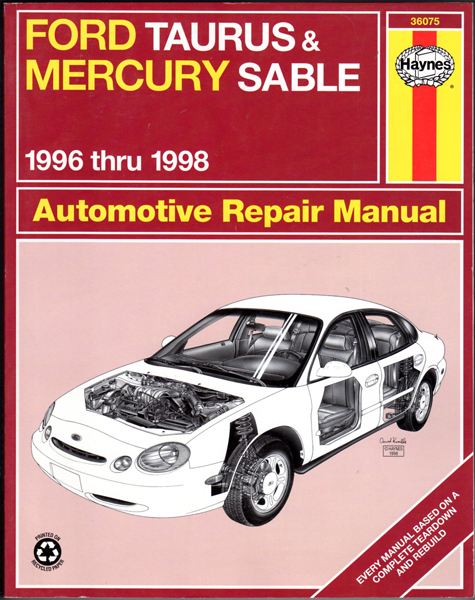 Thumbnail of Ford Taurus & Mercury Sable Automotive Repair Manual: 1996 Thru 1998 (Haynes Aut