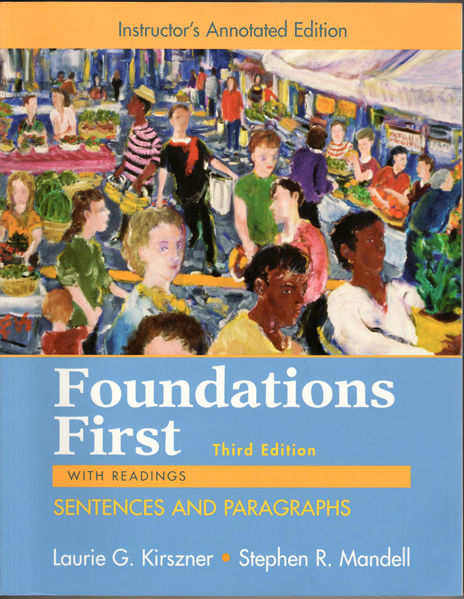 Thumbnail of Foundations First with Readings, Sentences and Paragraphs, Third Edition (Instru
