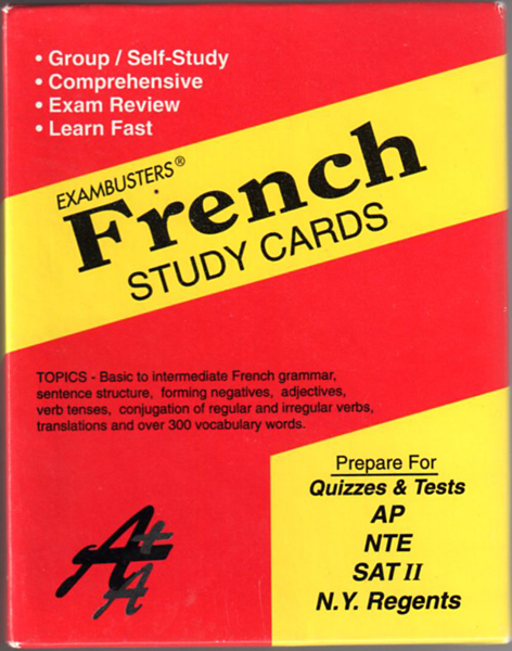 Thumbnail of Ace's French Exambusters Study Cards (Ace's Exambusters) (French Edition)