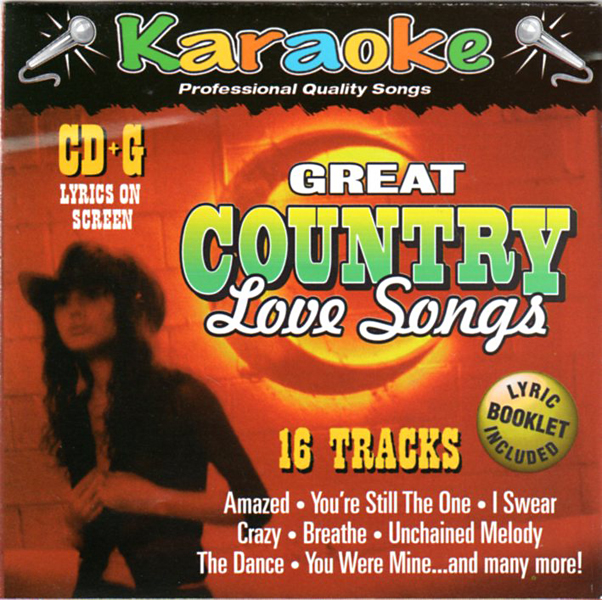 Thumbnail of Great Country Love Songs: 16 TRACK KARAOKE BAY CD+G : Formatted for worldwide us