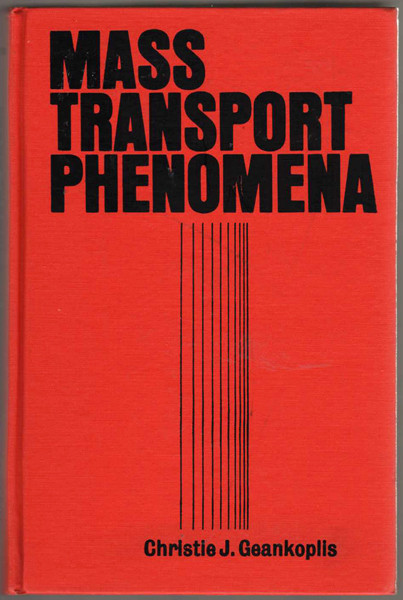 Thumbnail of Mass Transport Phenomena