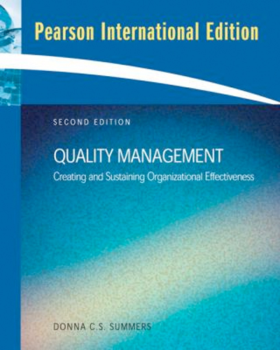 Thumbnail of Quality Management (2nd Edition) International Edition