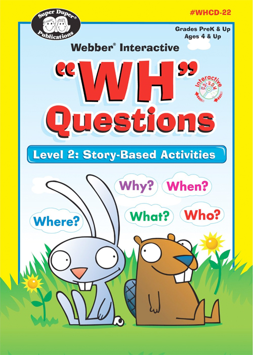 Thumbnail of WH Questions Software Program - Level 2: Story-Based Activities - Super Duper