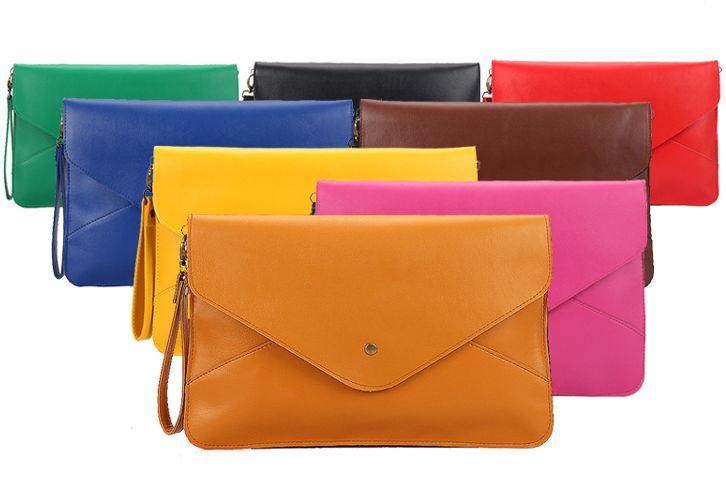 New-Lovely-Oversized-Envelope-Clutch-PU-Leather-Handbag-Purse-Hand-Shoulder-Bag