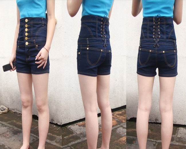 New Fashion Sexy Girl Denim High Waist Hot Shorts Jeans Pants ...