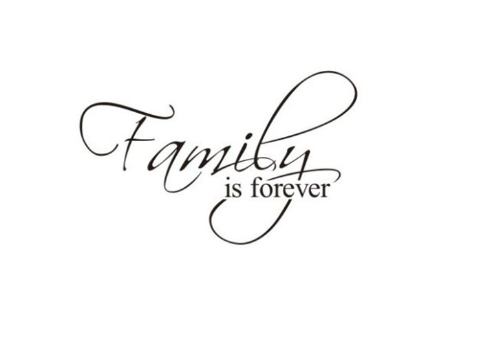 family is forever removable quote wall sticker decal quotes art