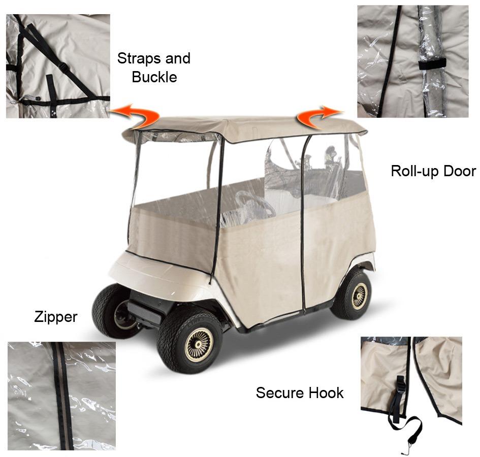 LeaderAccessories Golf Cart Cover on brick cart, roofing cart, moving cart, drywall cart, material cart, firewood cart, portable air compressor cart, door cart, construction cart, paper cart, shopping cart, sand cart, build a rolling shop cart, panel cart, 2 wheel cart, stone cart, aluminum cart, cardboard cart, wood cart, concrete cart,