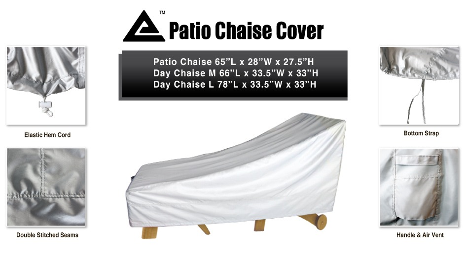 "Outdoor Water UV Resistant Patio Day Chaise Lounge Cover 78""Lx33 5"