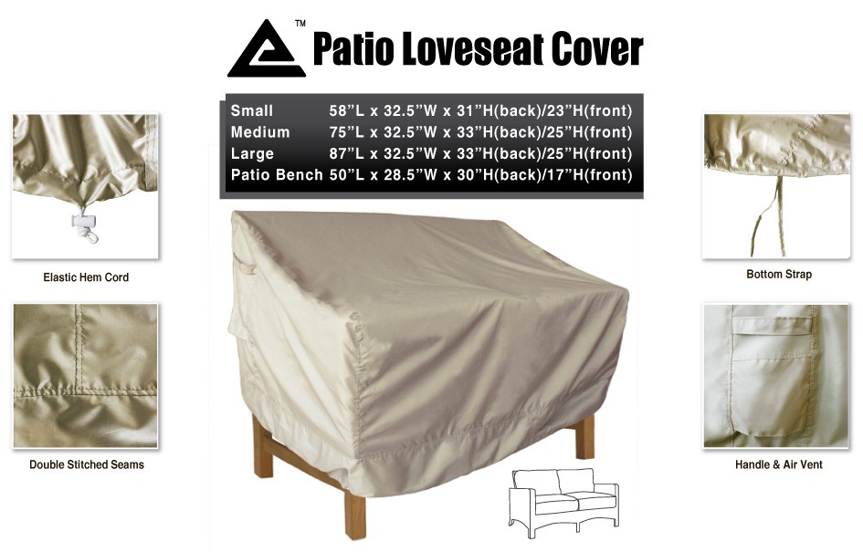 All Weather Protect Heavy Duty Outdoor Seat Cover Patio Loveseat Cover Small Ebay