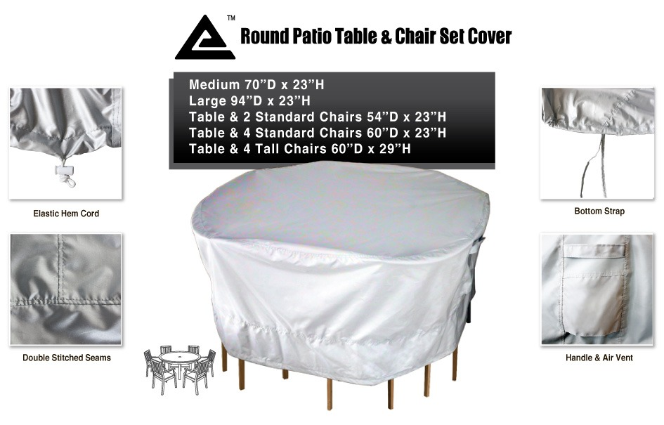 All weather protect water uv resistant patio table chair for Uv patio furniture covers