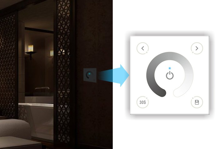 touch panel dimmer wall switch change brightness for 3528 5050 led strip ligh. Black Bedroom Furniture Sets. Home Design Ideas