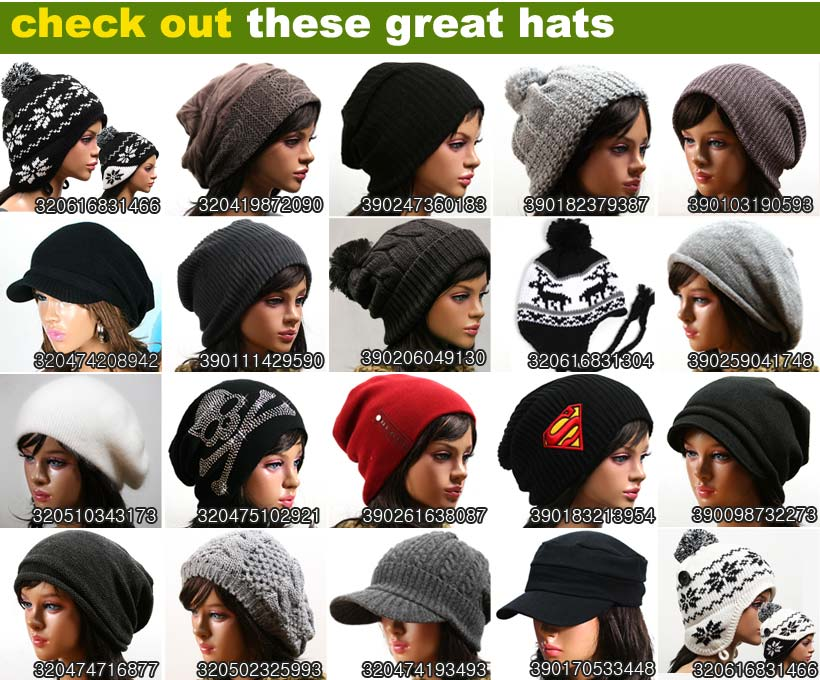 various wonderful brim beanie hat cap beret visor