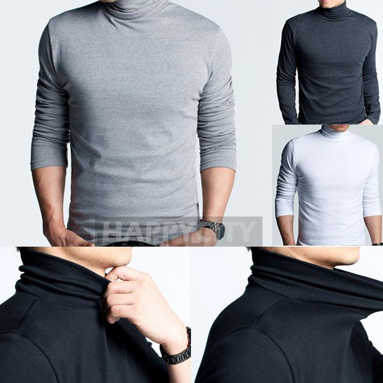 High Neckline Shirts High-neck-t-shirt-long