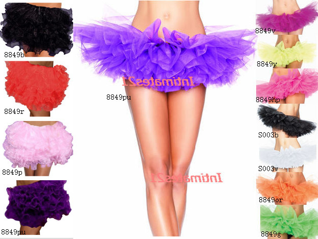 Sassy-Organza-8-Layered-Tutu-Skirt-Petticoat-8-Colors-Costume-Dance-Wear-S003