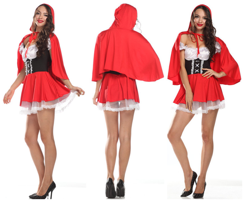 Amour M/XL Costume Little Riding Hood Storybook Woman Adult Halloween @FE1688