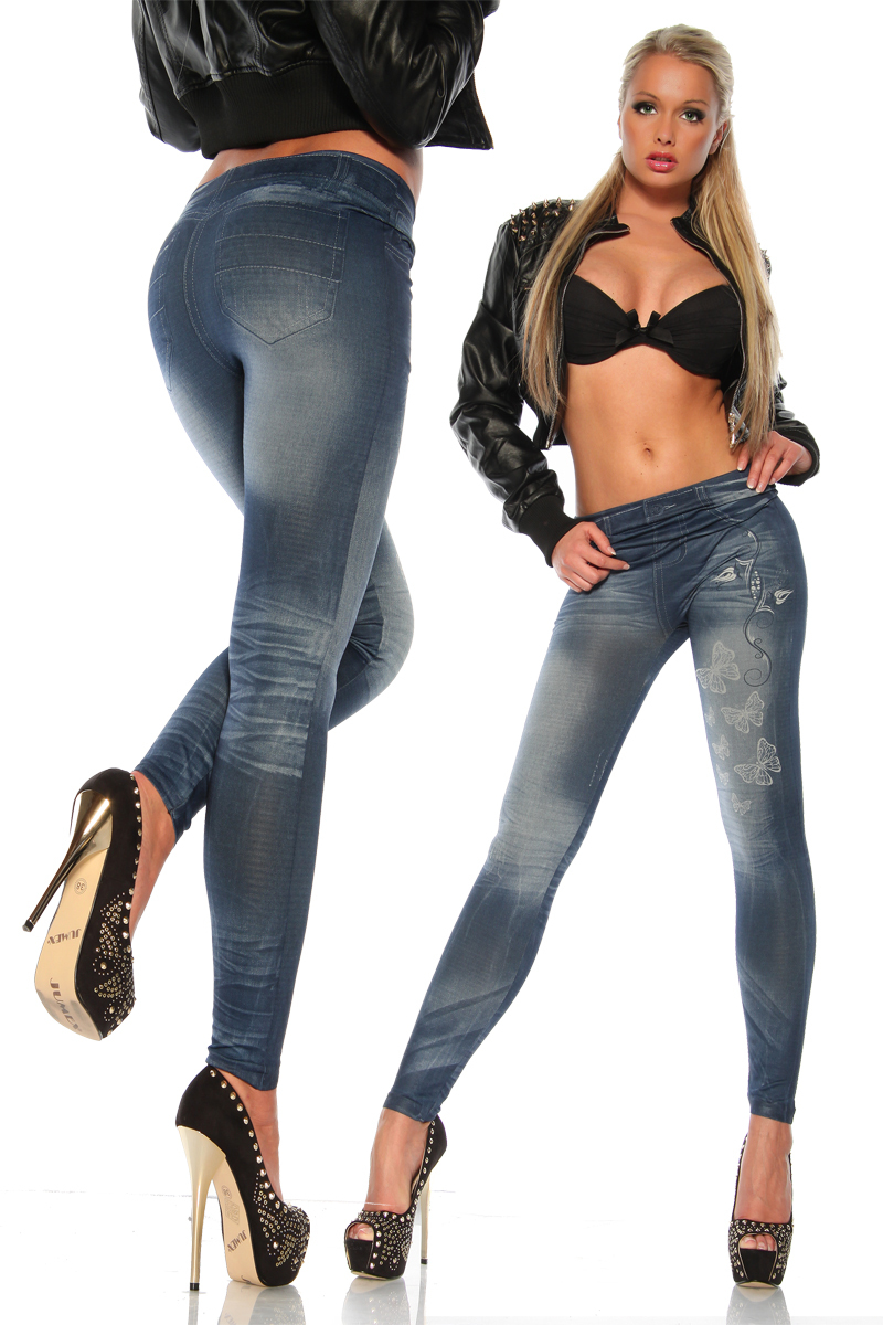 New Skinny Lady's Denim Jeans Look Sexy Leggings Stretchy ...