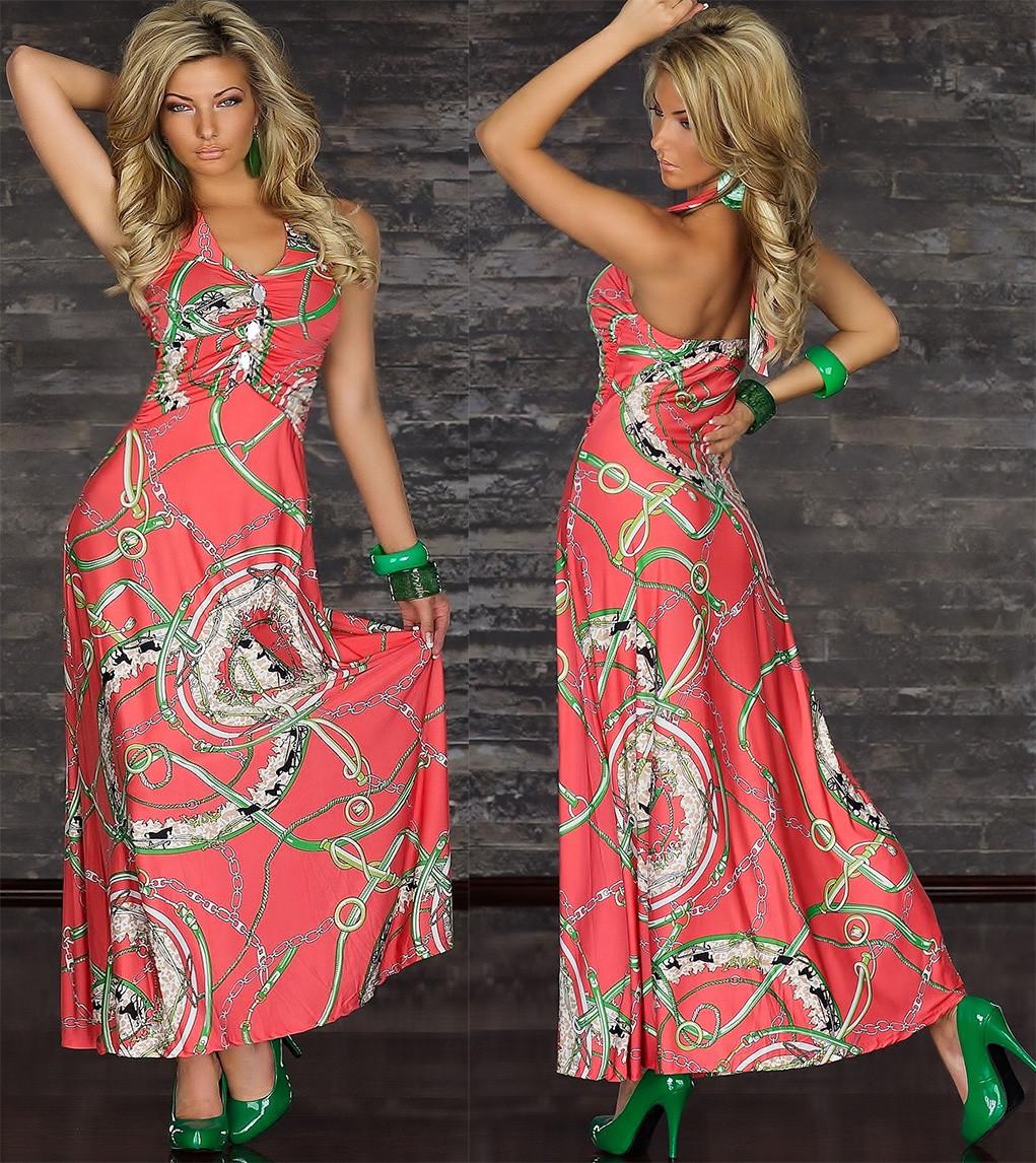 Летние длинные платье сарафан