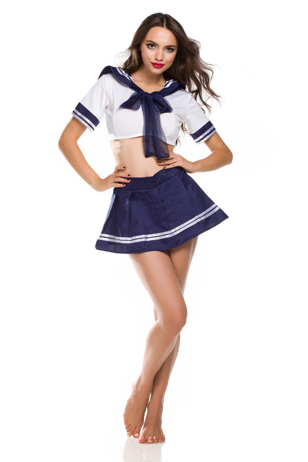 Cute Sexy Japanese School Girl Sailor Uniform Cosplay ...