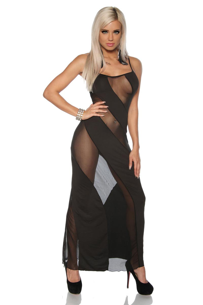 3 Colors Elegant Sexy Lingerie Sheer Night Long Dress Gown Robe ...