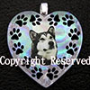 Dog 925 Sterling Silver Dichroic Glass  Pendant