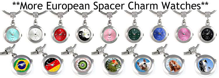 More European Spacer Charm Bead Watches!