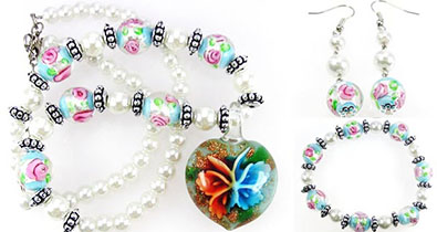 Murano Glass Jewelry Set