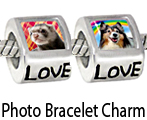 Silver Photo Charm Beads For Bracelet Necklace