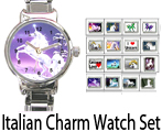 Italian Charm Bracelet Watch Set