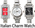 Stainless Steel Italian Charm Bracelet Watches