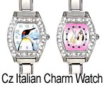 CZ Italian Charm Watches