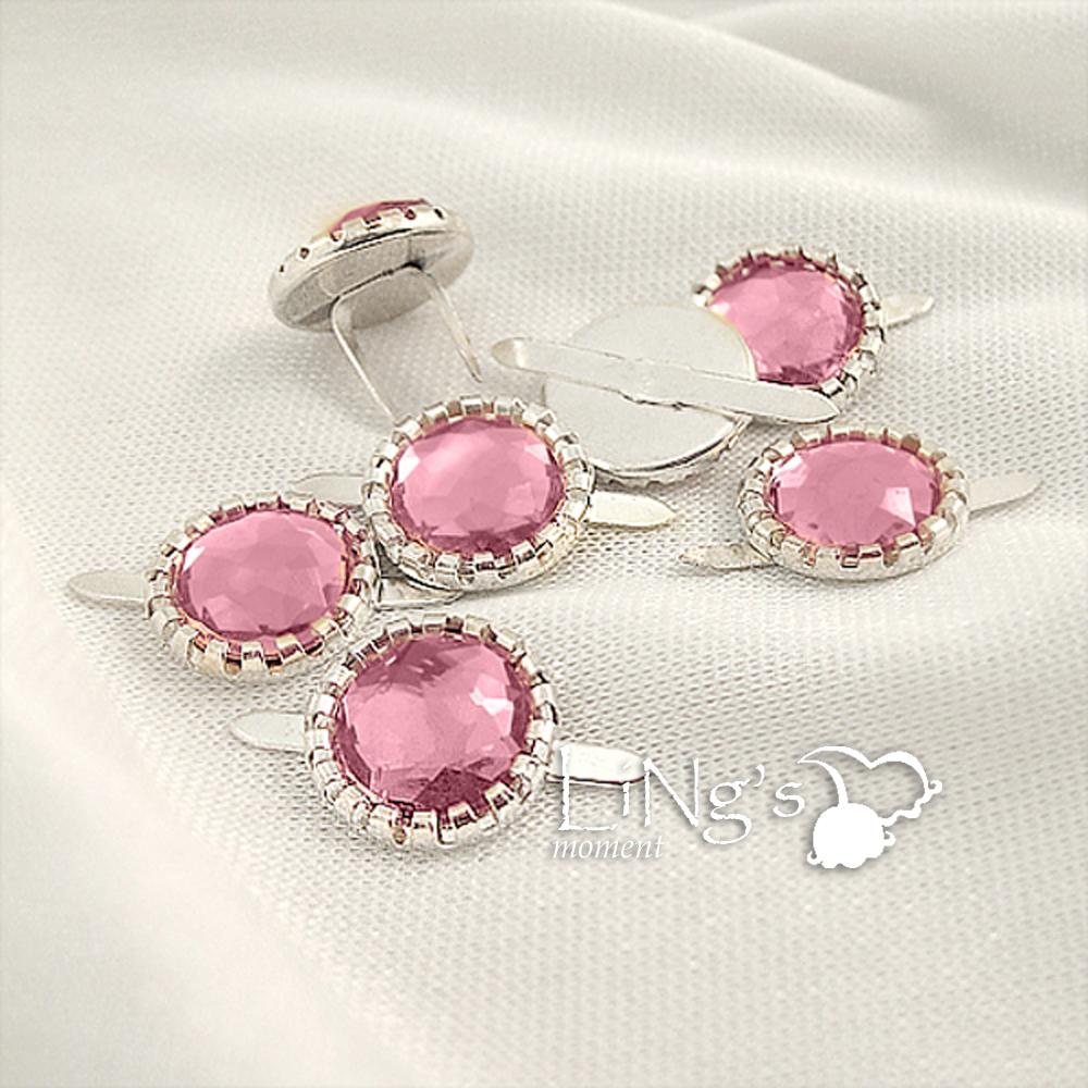 Brads Round Acrylic Crystal Diamante Beads Cluster Scrapbook Wedding DIY Crafts