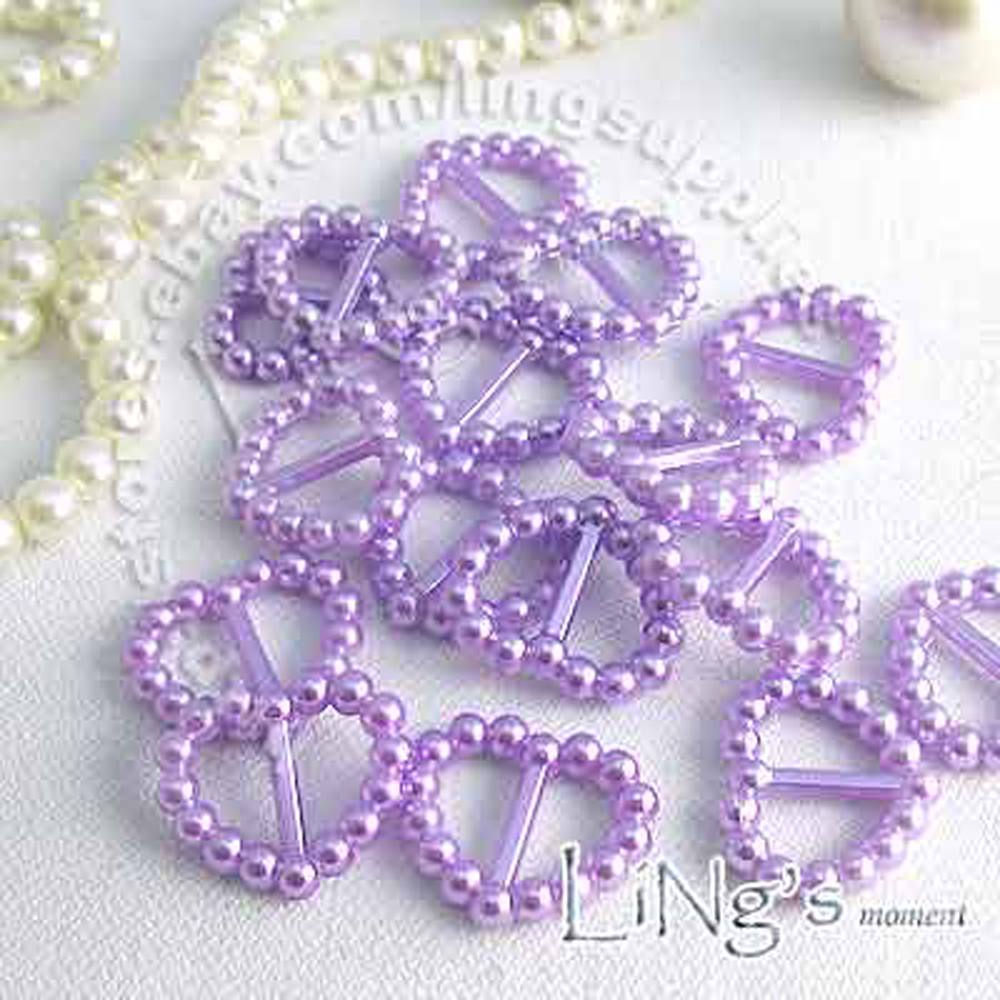 1000x-Lavender-Pearl-Heart-Buckle-Ribbon-Slider-Craft