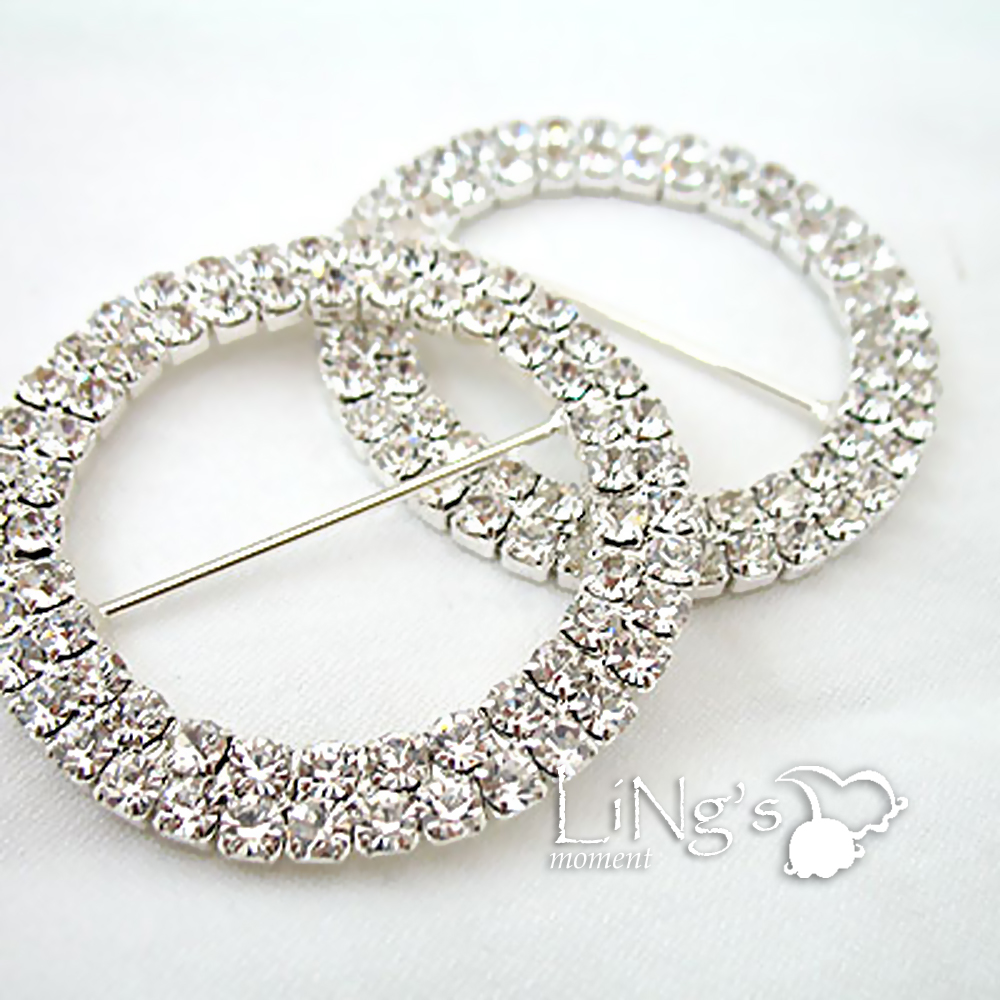 5cm Silver/Gold A-GRADE Diamante Round Buckle Wedding Chair Sash / Ribbon Slider  sc 1 st  eBay : chair sash buckle - Cheerinfomania.Com