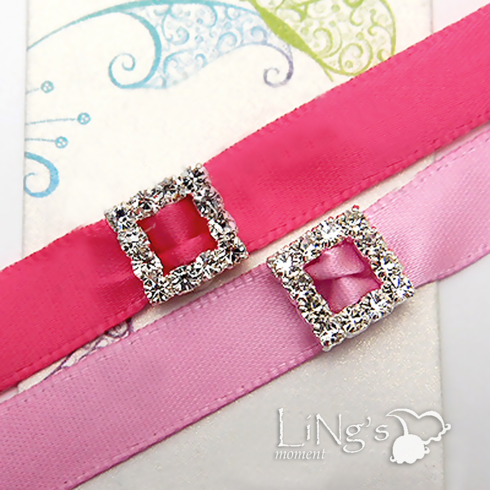 A-Grade-Rhinestone-Crystal-Square-Buckle-Ribbon-Slider-Craft-Wedding-Favor