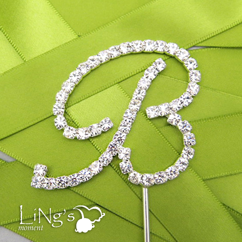 Cake Toppers Letters Uk : Monogram Cake Topper Letters Diamante Acrylic Crystal ...
