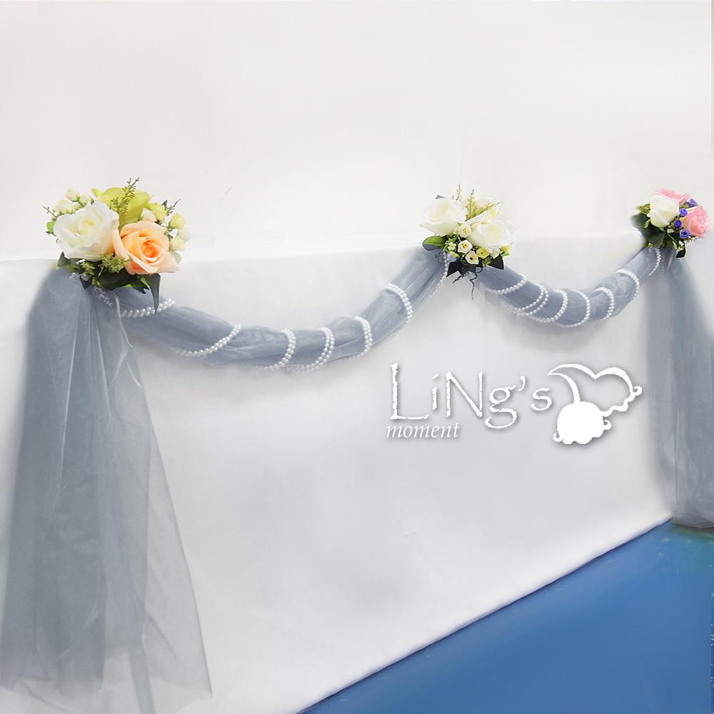 Organza Sheer Fabric Wedding Party Table Runner / Chair Sash Bows Decoration