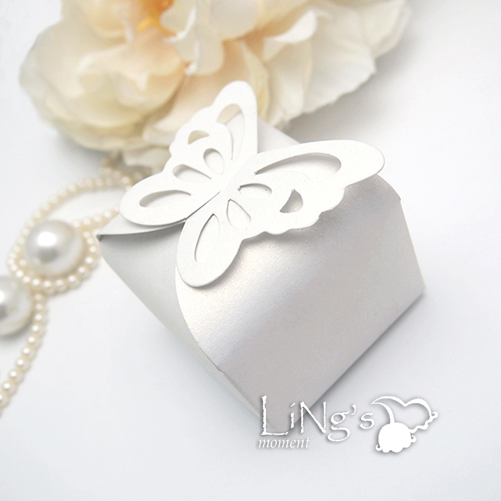 Butterfly Pattern Favor Gift Candy Bomboniere Boxes Wedding Party ...