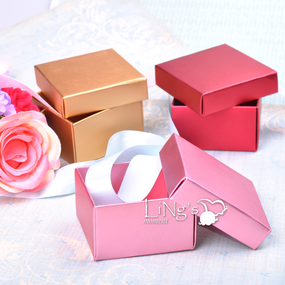 Decorative Baby Gift Box : Gold pink red favor gift boxes wedding baby shower