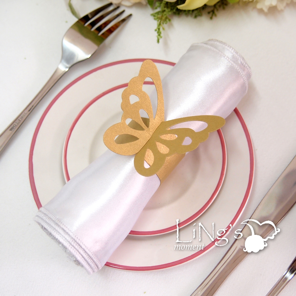 butterfly paper napkin ring wedding party shower favor decoration 8
