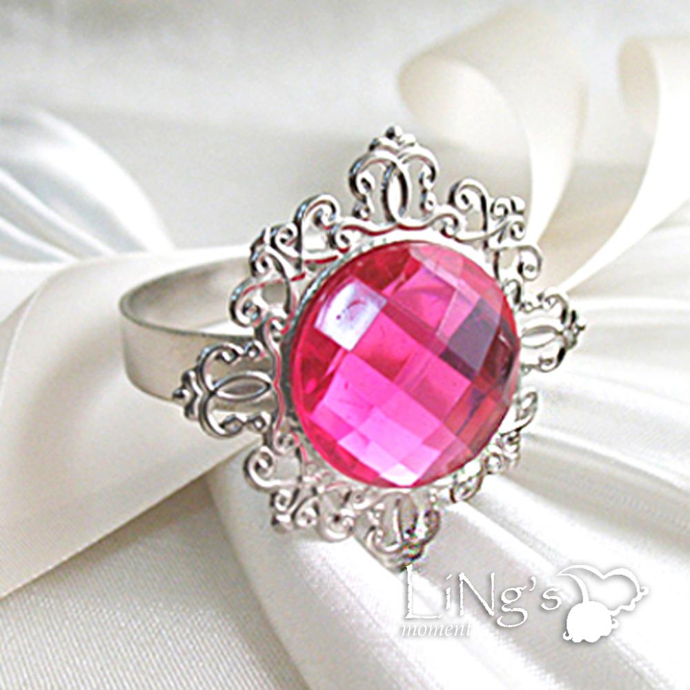 50pcs Diamond Gem Napkin Ring Serviette Holder Wedding Party Favour Table Decor