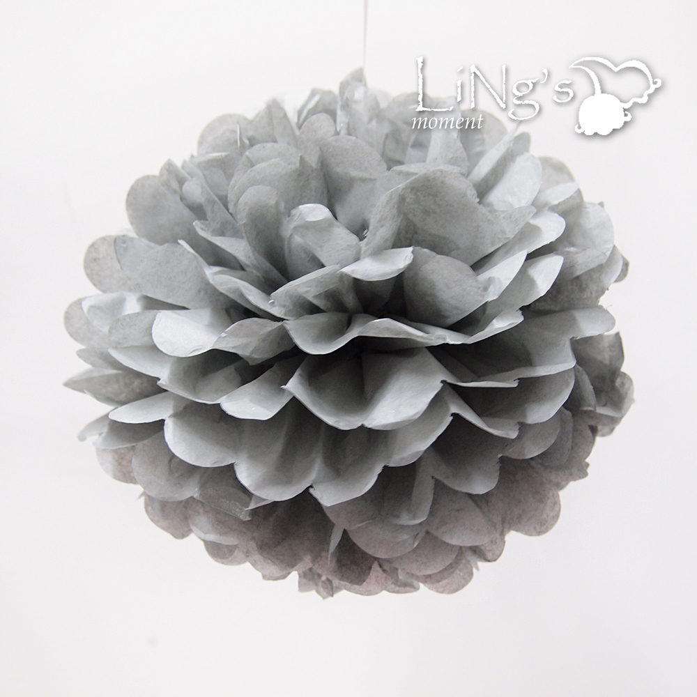5pcs Large or Medium or Small Handmate Tissue Paper Pompoms Wedding Party Decor