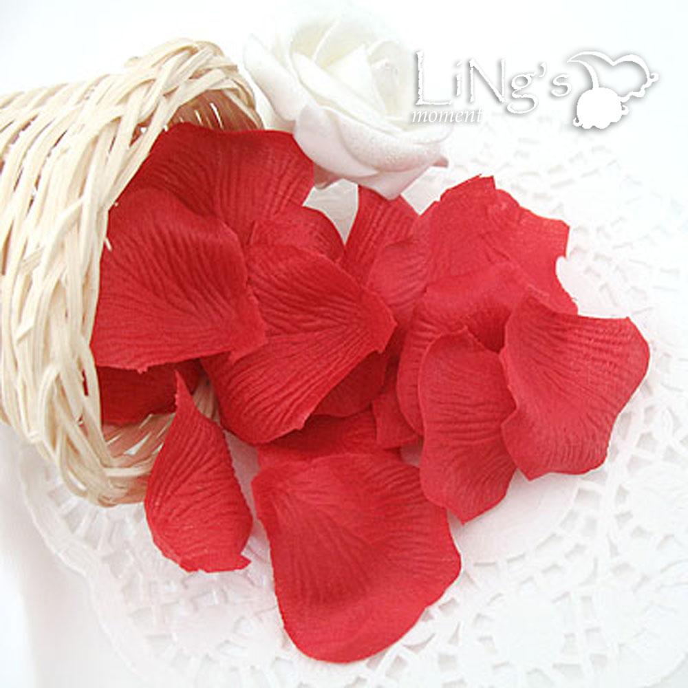 Rose Flower Wedding Table: Rose Flower Petal Wedding Table Party Favor Decoration